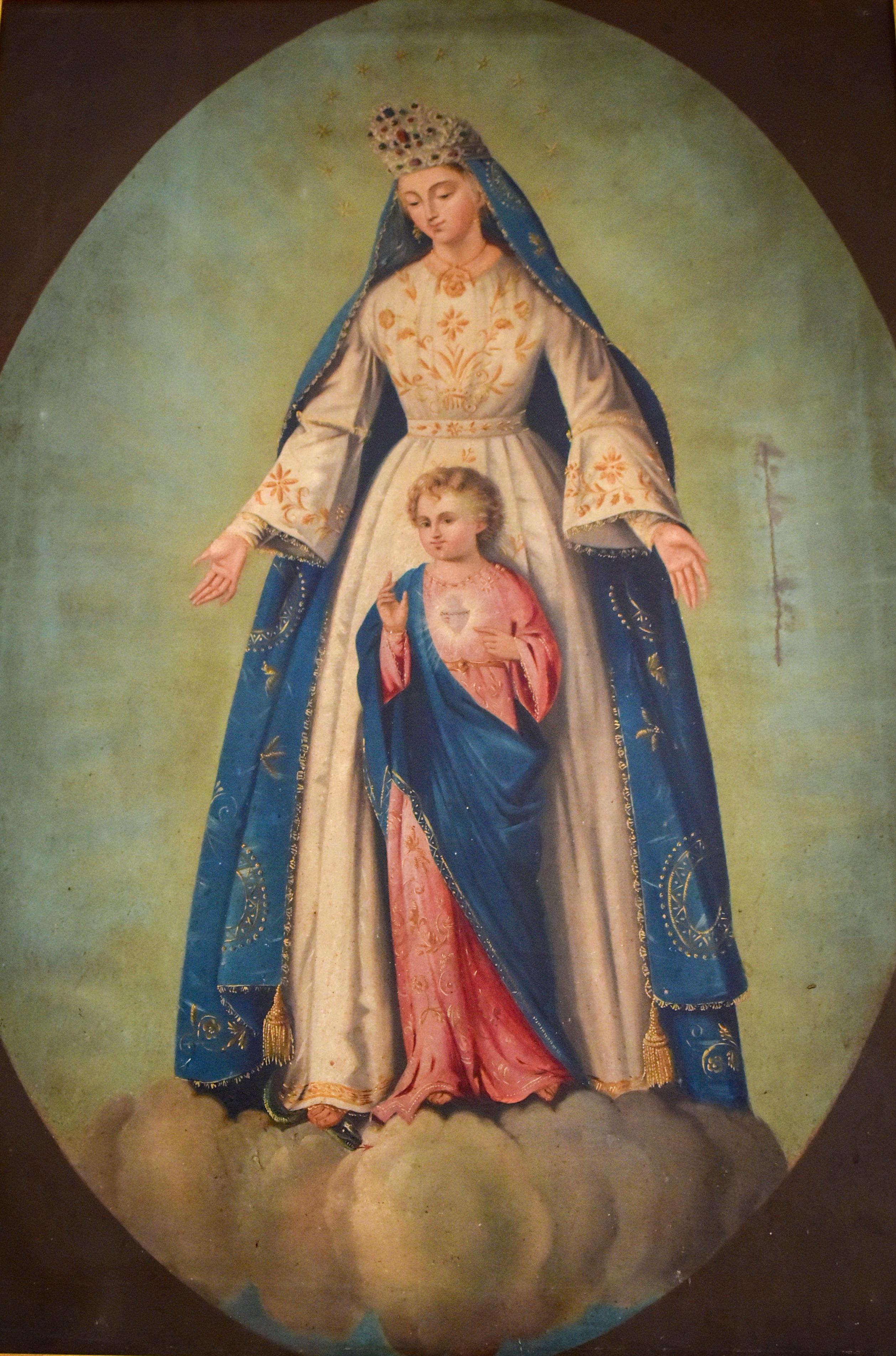 dipinto_Madonna_del_Sacro_Cuore_Sacrestia_della_Chiesa_di_San_Giuseppe_Trinitapoli Foto di Giuseppe Beltotto